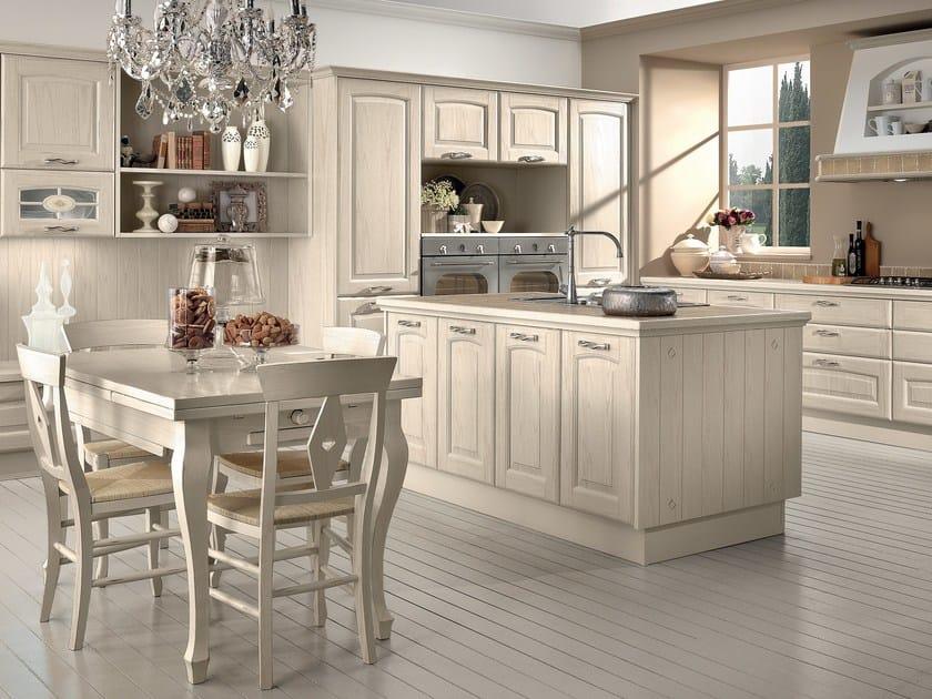 Cucina in legno con isola veronica cucina cucine lube - Cucina bianca e legno naturale ...