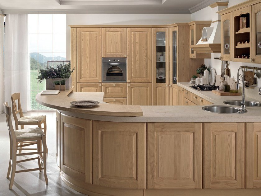 Cucina in castagno veronica cucina in castagno cucine lube - Cucine in muratura lube ...