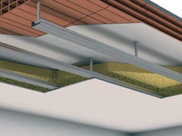 Sound insulation and sound absorbing panel in mineral fibre CONTROSOFFITTO IN ADERENZA D111 - Knauf Italia
