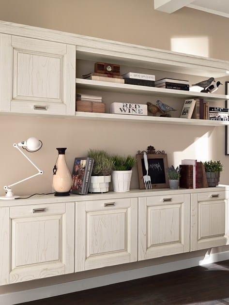 Parete attrezzata fissata a muro in legno laura parete attrezzata in legno cucine lube - Cucina parete attrezzata ...