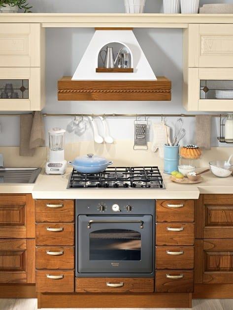 Cucina in noce con maniglie laura cucina in noce - Cucina lube laura ...