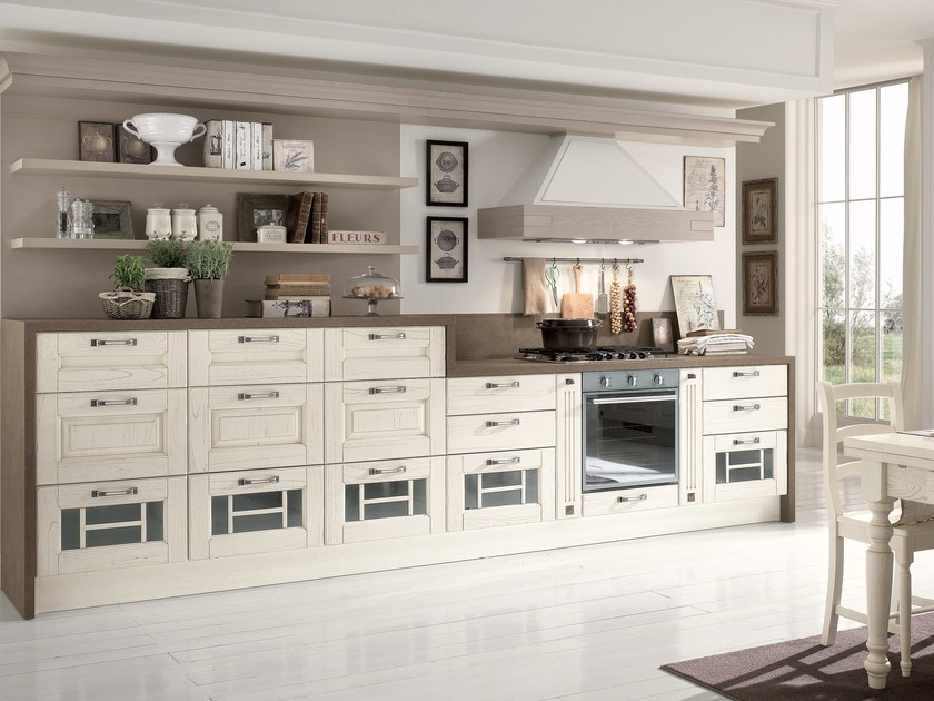 Decapé wooden kitchen LAURA | Decapé kitchen by Cucine Lube