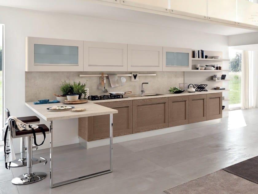Cucina lineare in legno gallery cucina lineare cucine lube - Cucine lineari classiche ...