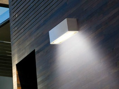 LED glass and aluminium wall lamp STILE NEXT 260 by Lombardo