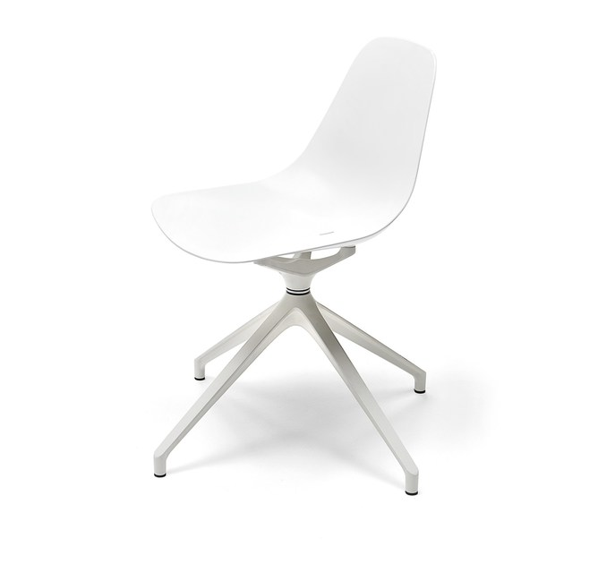 Aluminium task chair with 4-Spoke base MAMMAMIA meeting by Opinion Ciatti