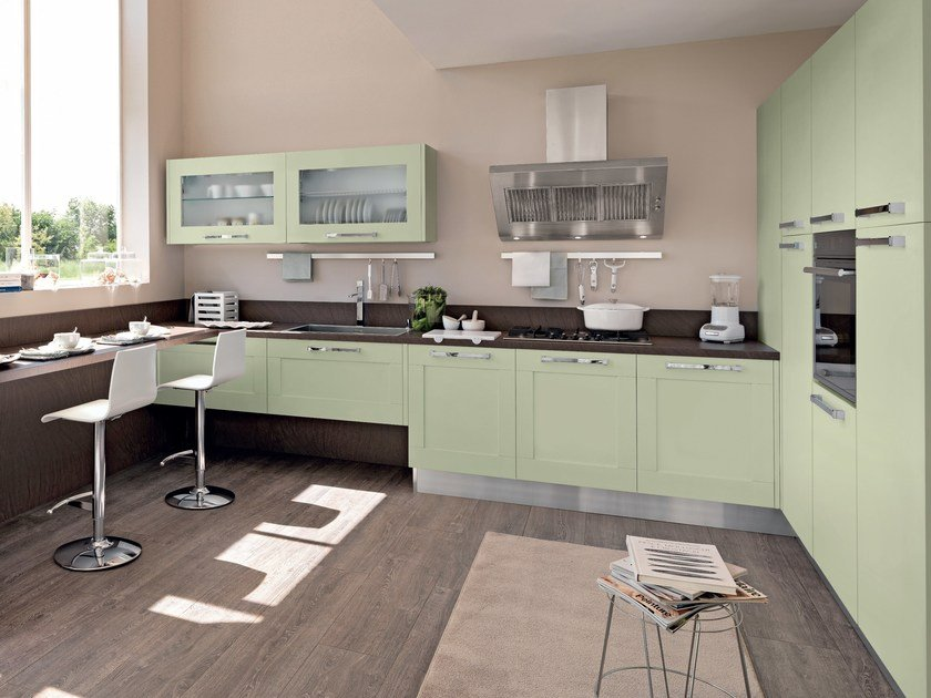 Lacquered ash kitchen with handles GALLERY | Ash kitchen by Cucine Lube
