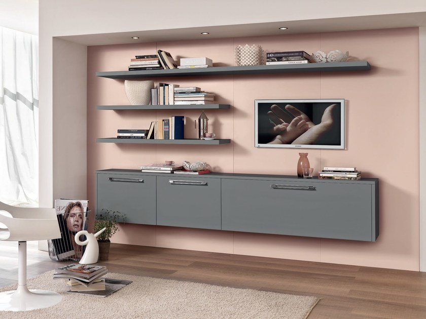Lacquered storage wall GALLERY | Storage wall - Cucine Lube