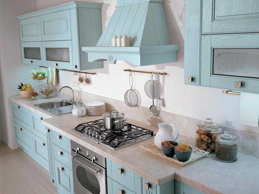 Cucina decapata in legno massello AGNESE | Cucina decapata ...
