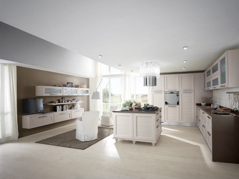 Decapé ash kitchen with island CLAUDIA | Decapé kitchen by Cucine Lube