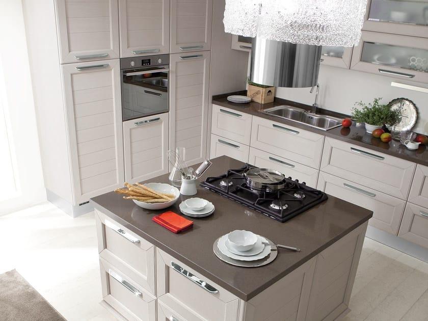 Cucina decapata in frassino con isola claudia cucina - Cucine con isola lube ...