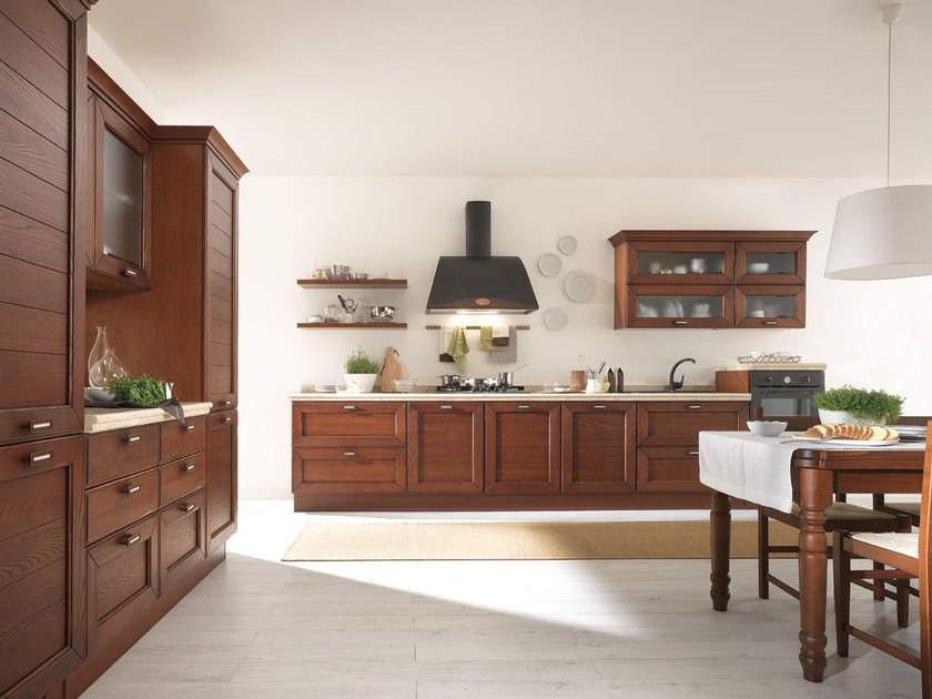 Ash kitchen with handles CLAUDIA | Solid wood kitchen by Cucine Lube