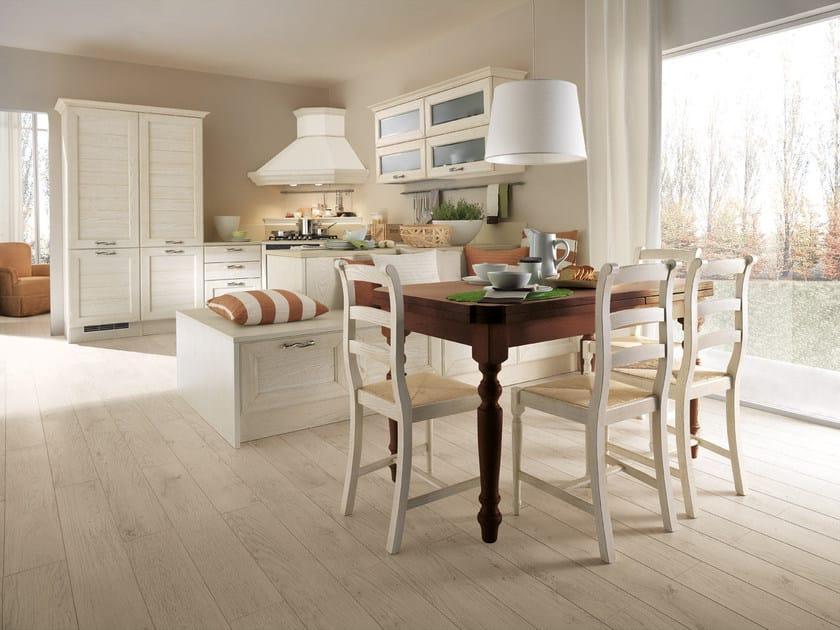 Cucina decapata in frassino con maniglie claudia cucina con maniglie cucine lube - Maniglie mobili cucina ...