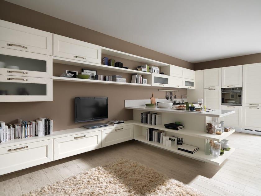 Cucina in frassino con maniglie CLAUDIA | Cucina in legno - Cucine ...