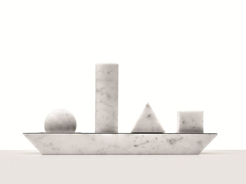 Carrara marble chopping board ELEMENTARE - Opinion Ciatti