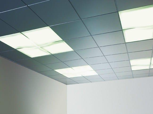 Sound absorbing metal ceiling tiles PROMETAL® - PROMETAL