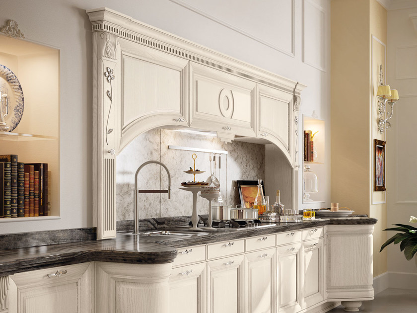 Cucina decapata con maniglie PANTHEON  Cucina laccata - Cucine Lube
