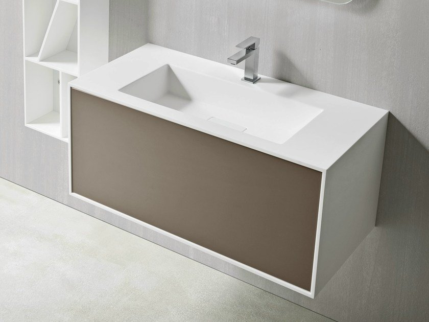 Rectangular wall-mounted washbasin GIANO | Rectangular washbasin - Rexa Design