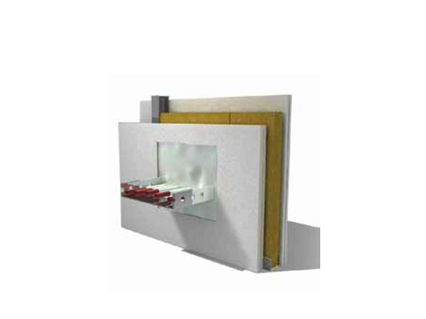 System to protect against fire penetration F-PANEL® by Knauf Italia