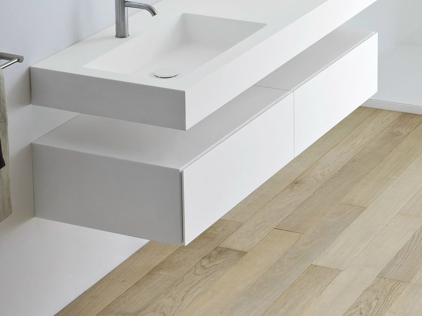 Korakril™ bathroom cabinet with drawers UNICO | Bathroom cabinet - Rexa Design