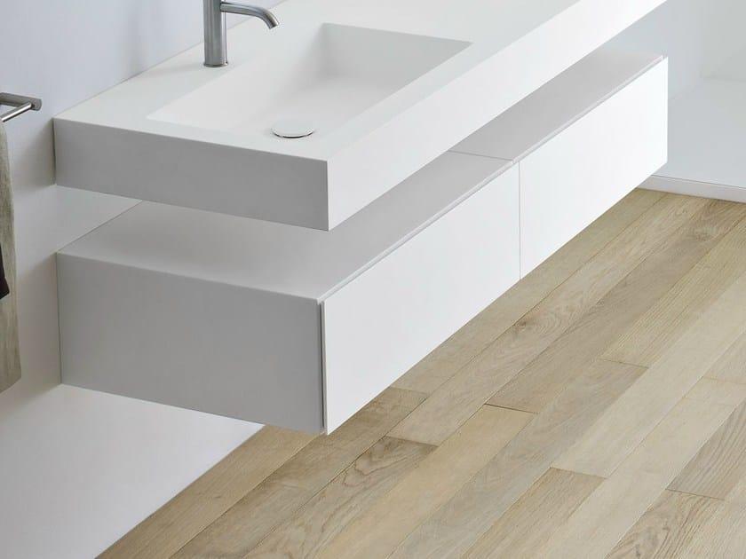 Mobile bagno in Korakril™ con cassetti UNICO  Mobile bagno - Rexa Design