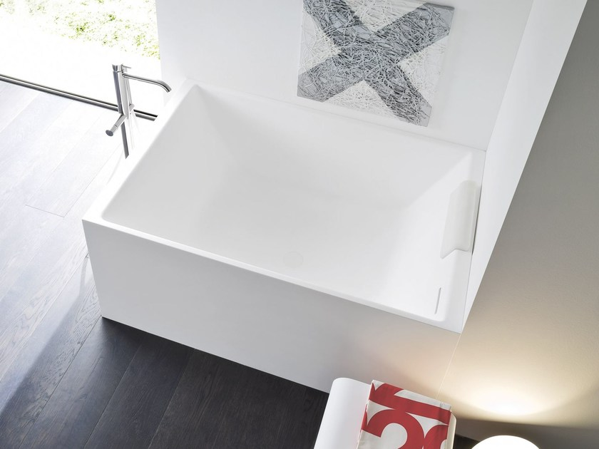Rectangular Korakril™ bathtub UNICO MINI - Rexa Design