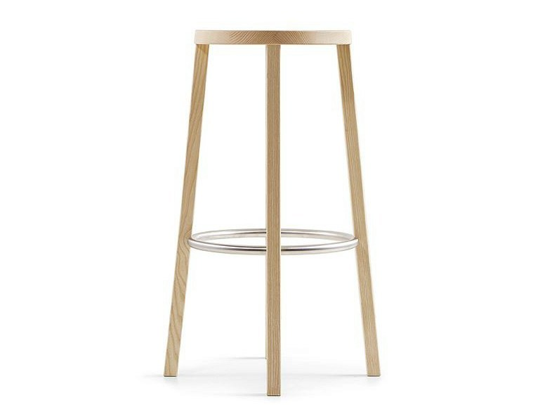 High ash stool BLOCCO | High stool - Plank