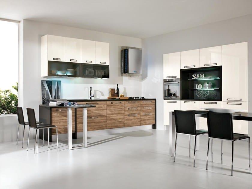 Cucine Lube Modello Alessia : Cucina in legno con maniglie componibile collezione