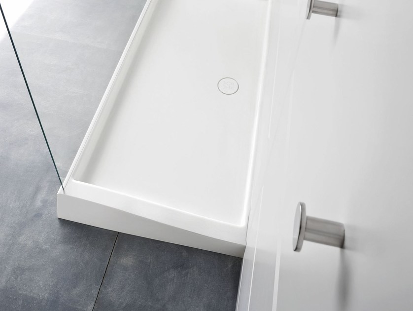Rectangular Corian® shower tray WARP | Shower tray - Rexa Design