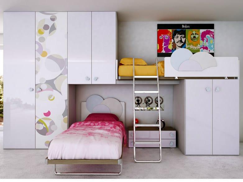 Jugendzimmer aus holz mit hochbett lemillebolle 5 for Jugendzimmer holz