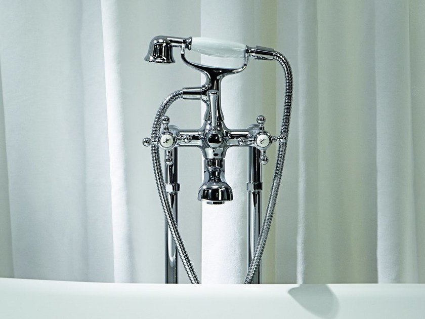 Floor standing bathtub tap