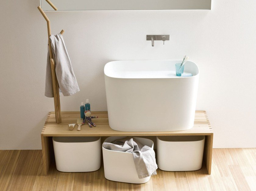 Countertop Corian® washbasin FONTE | Countertop washbasin - Rexa Design