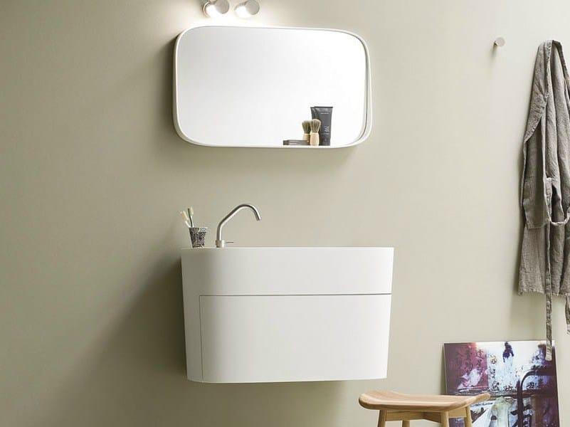 meuble sous vasque en corian avec tiroirs collection. Black Bedroom Furniture Sets. Home Design Ideas