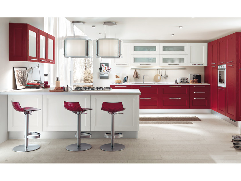 Cucina componibile in legno massello con maniglie GEORGIA   Cucina ...