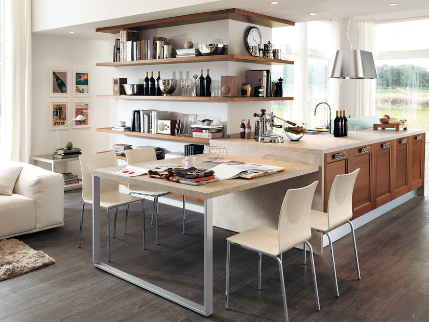 Solid wood fitted kitchen GEORGIA | Solid wood kitchen by Cucine Lube