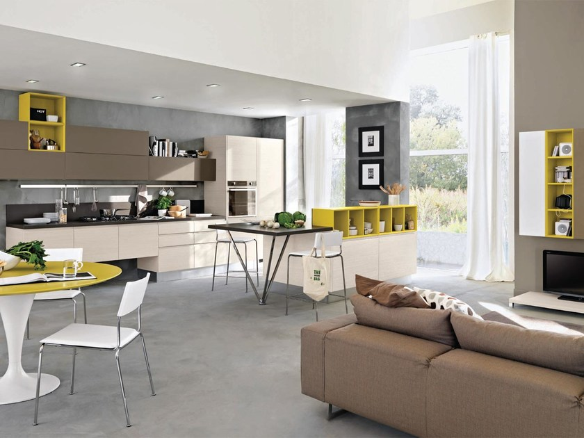 Cucina componibile senza maniglie linda cucina laccata cucine lube - Cucina senza maniglie ...