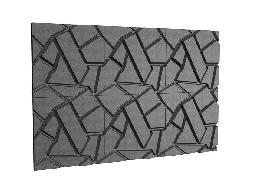Sound insulation and sound absorbing felt in synthetic material