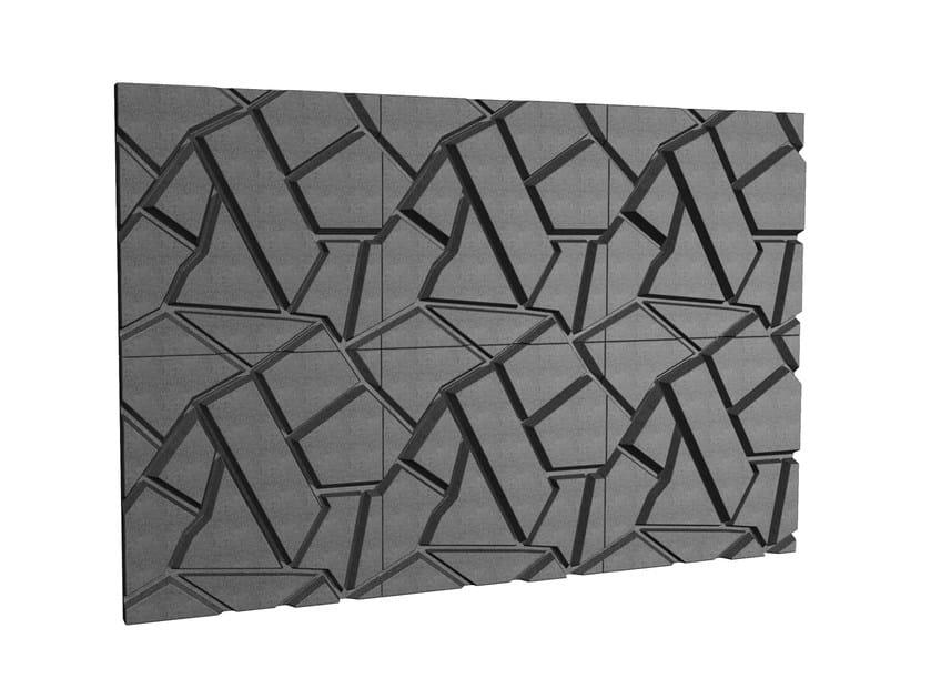 Pannello decorativo acustico in schiuma cropfield johanson design - Pannelli fonoassorbenti decorativi ...