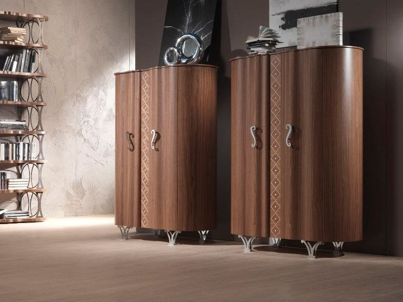 Walnut highboard with doors MISTRAL | Highboard by Carpanelli Contemporary