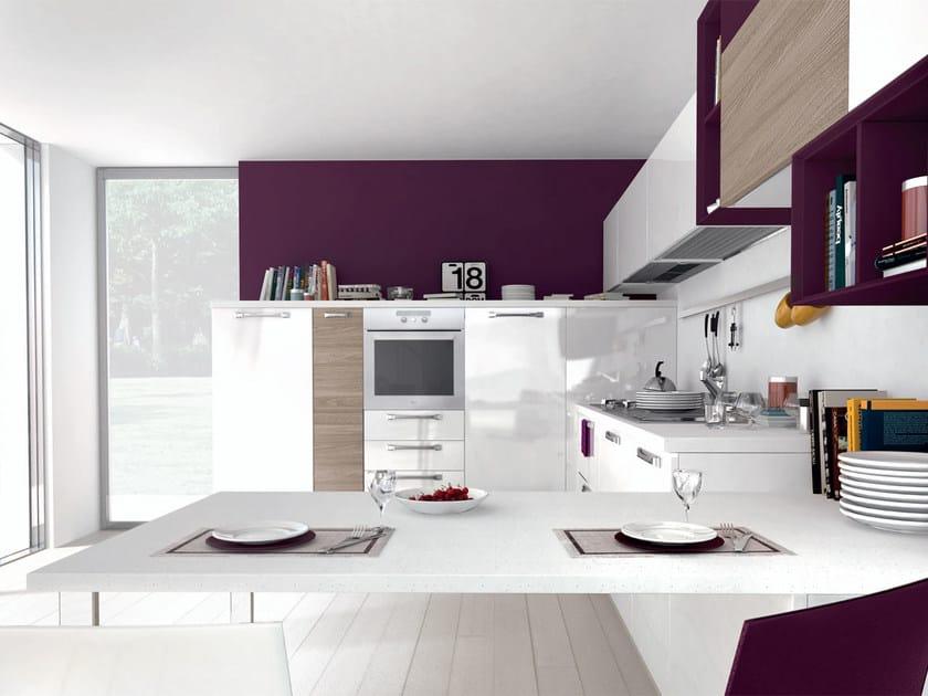 Cucina componibile laccata in legno con maniglie NOEMI   Cucina ...