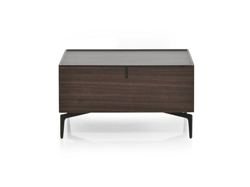 Lacquered wooden bedside table MERIDIEN | Bedside table - ALIVAR
