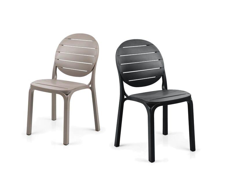 Contemporary style stackable polypropylene garden chair ERICA - Nardi