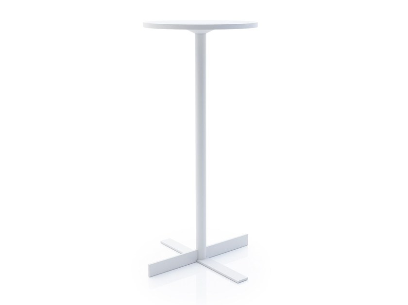 Round steel coffee table PEOPLE | High side table - ALMA DESIGN