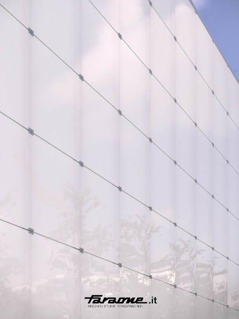 Point-fixed glass facade VETRISSIMO N by FARAONE