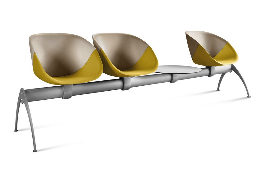 Polyurethane beam seating COQUILLE BENCH by DOMITALIA