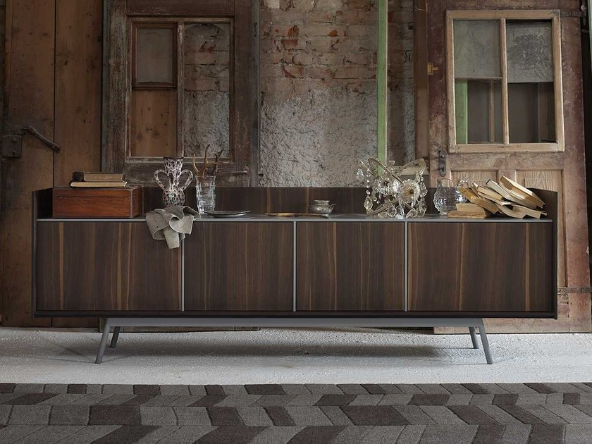 Oak sideboard with doors EDGE | Sideboard - Miniforms