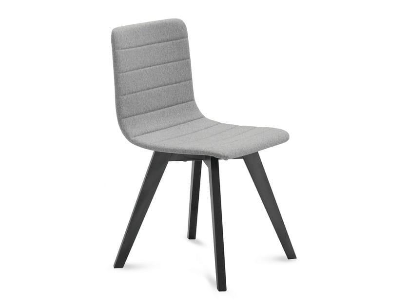 Upholstered ash chair FLEXA-LX - DOMITALIA