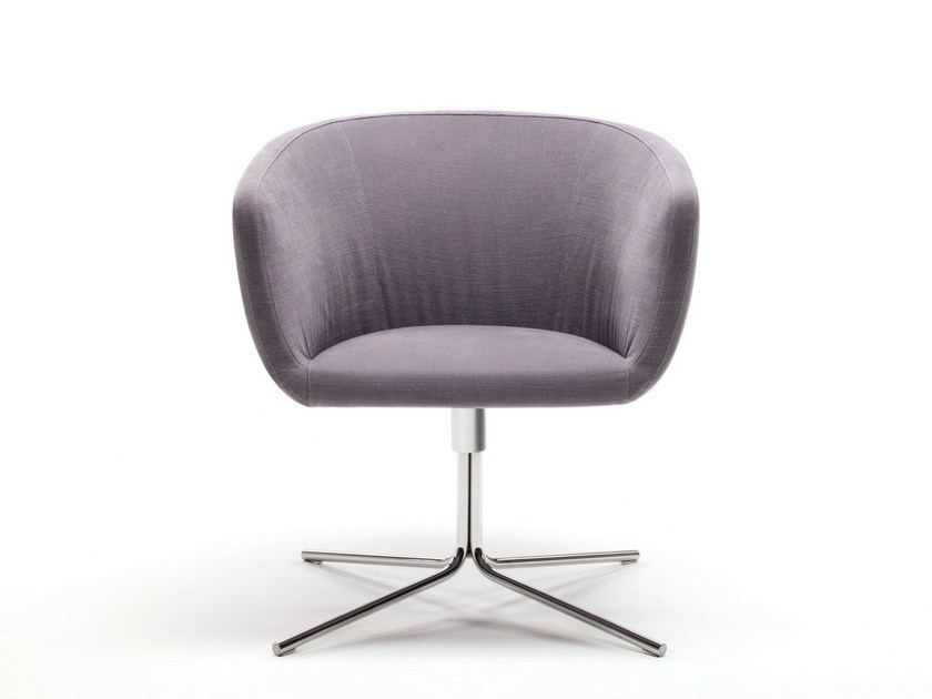 Swivel armchair with 4-spoke base with armrests MINI JELLY - Living Divani