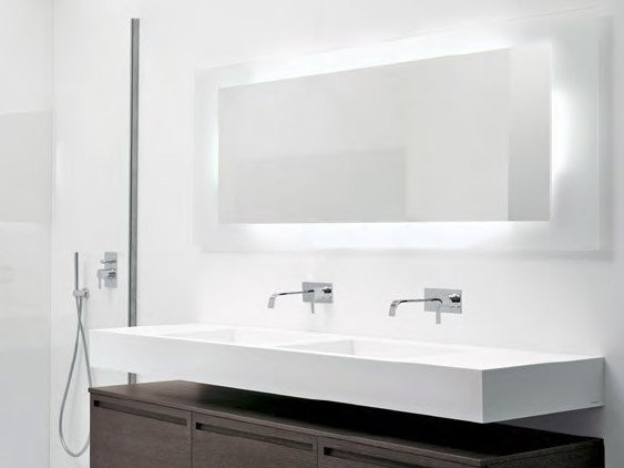 Bathroom Mirror With Integrated Lighting Flat By Antonio