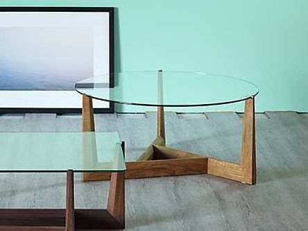 Low glass coffee table GAUDO | Round coffee table - Miniforms