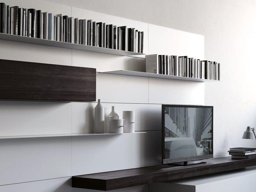 parete attrezzata fissata a muro modern load it porro. Black Bedroom Furniture Sets. Home Design Ideas